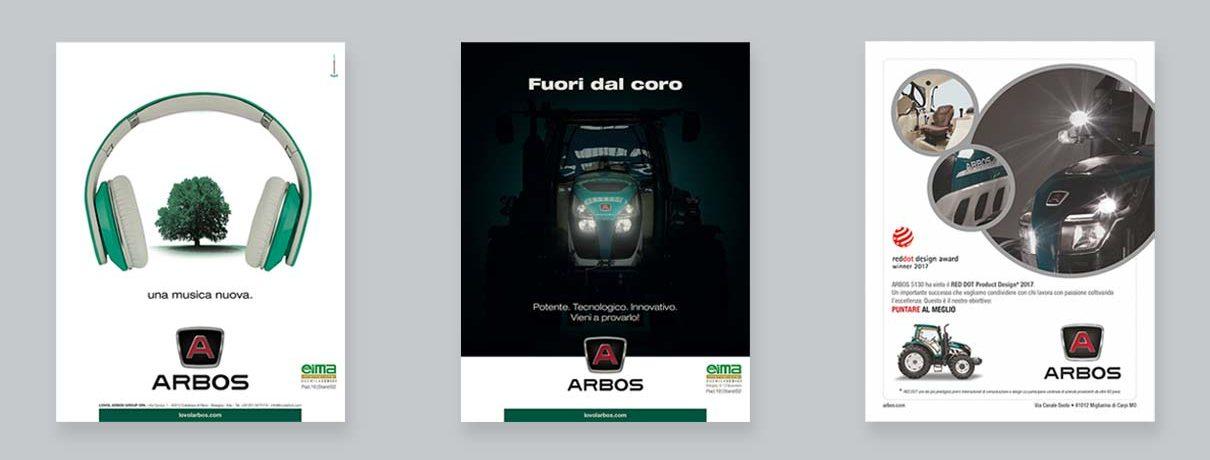 Advertising per trattori